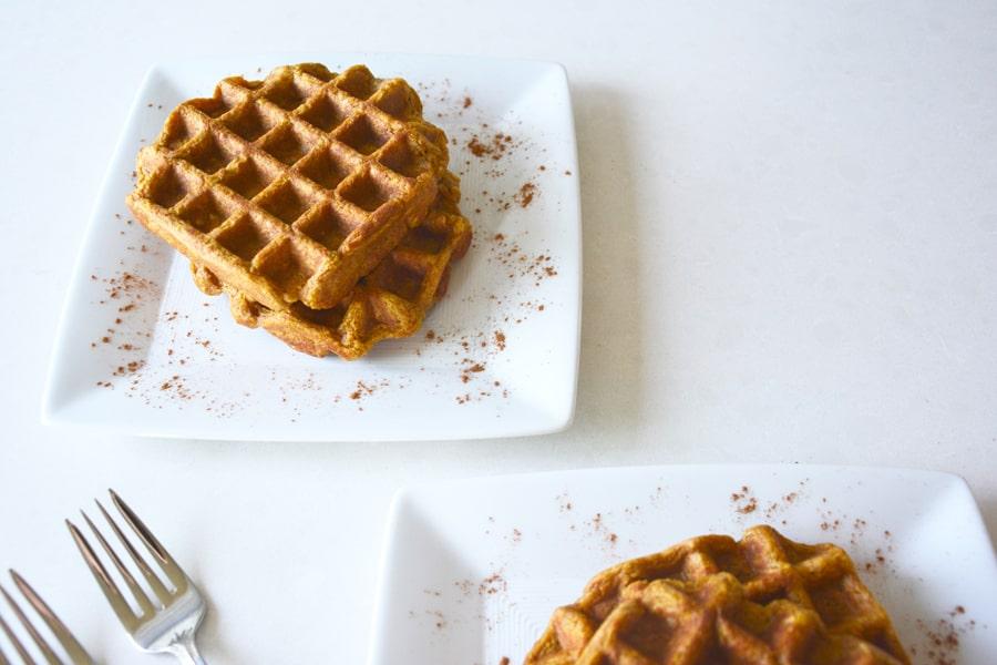 Pumpkin Spice Waffles | Pralines and Greens